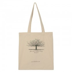 Cloth bag with Ibizan fig tree