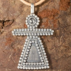 Amulet with the Ankh symbol made in silver